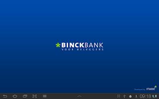 Screenshot of Binck beleggingsapplicatie