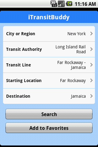 iTransitBuddy LIRR Lite - screenshot