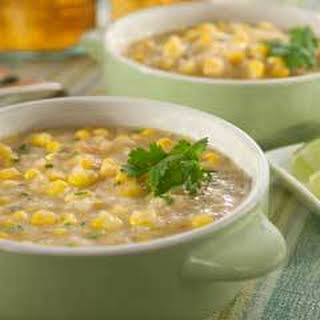 Sauteed Corn & Potato Chowder.