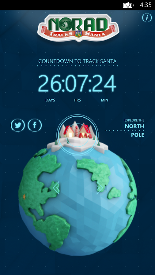 NORAD Tracks Santa- screenshot