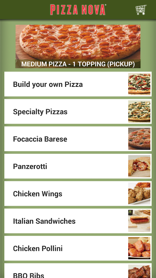 pizza nova android apps on google play. Black Bedroom Furniture Sets. Home Design Ideas