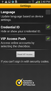 VIP Access - screenshot thumbnail