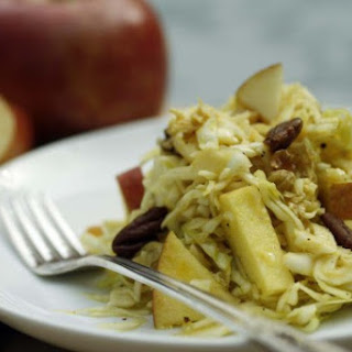 Apple And Cabbage Salad With Apple Molasses Dressing