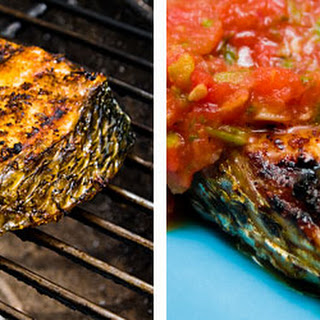 Striped Bass with Roasted Salsa