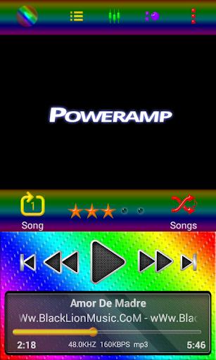 Poweramp Skin Rainbow