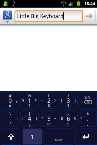 Little Big Keyboard - screenshot