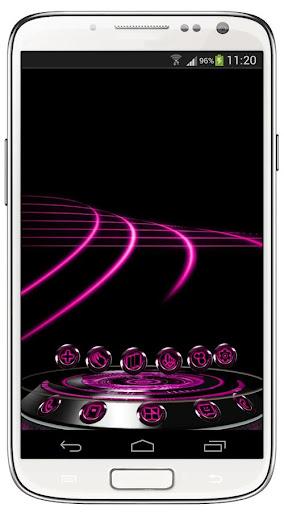 Next Launcher Theme Krome Pink