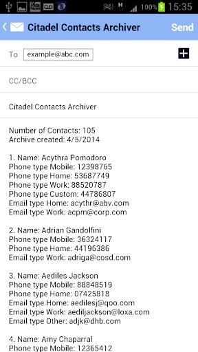 免費工具App Citadel Contacts Archiver 阿達玩APP