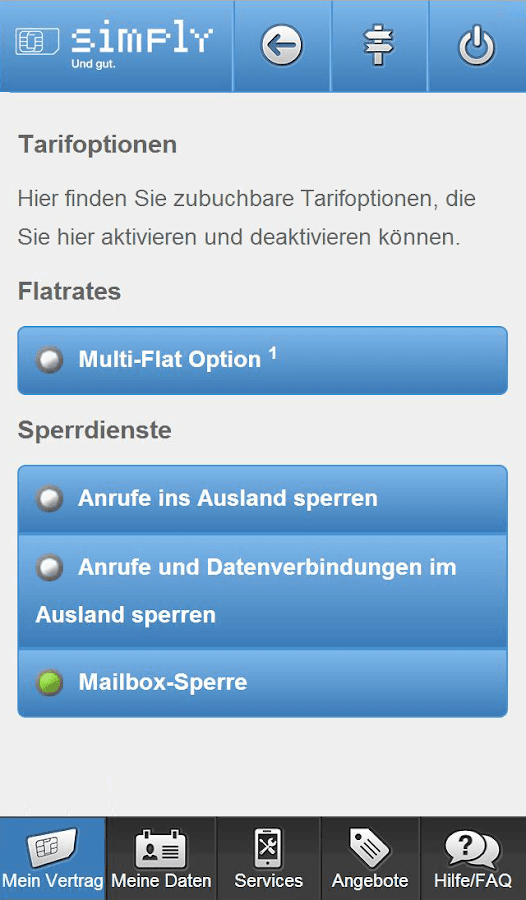 simply Servicewelt – Screenshot
