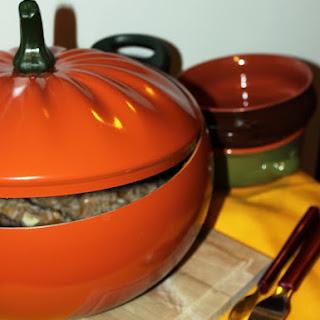 Sausage and Pumpkin Risotto.