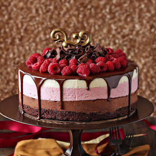 Chocolate Raspberry Mousse Cake.