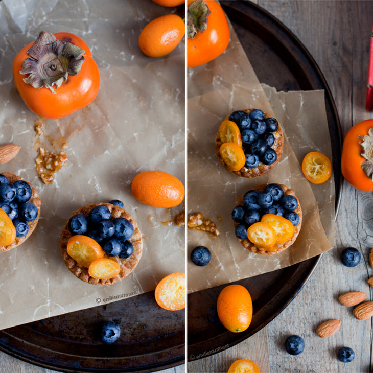 BLUEBERRIES & MASHED PERSIMMONS FLAVORED WITH VANILLA