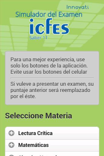 Simulador Examen ICFES 2.1.1 screenshots 2