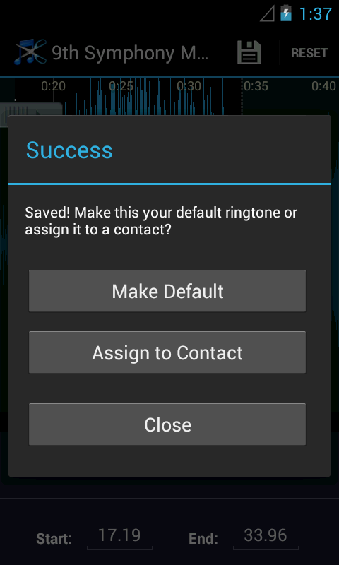 Ringcut - Ringtone Maker - screenshot