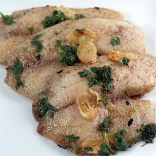 Tilapia With Garlic and Cilantro