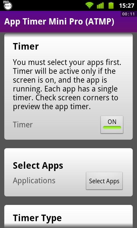 App Timer Mini Pro (ATMP) - screenshot