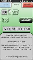 Screenshot of Percentage VAT TAX Calculator
