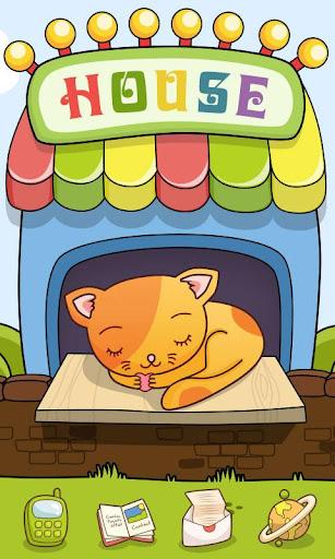 Kitten house GO Launcher Theme