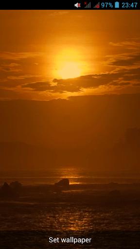Вид на море Живые обои GIF