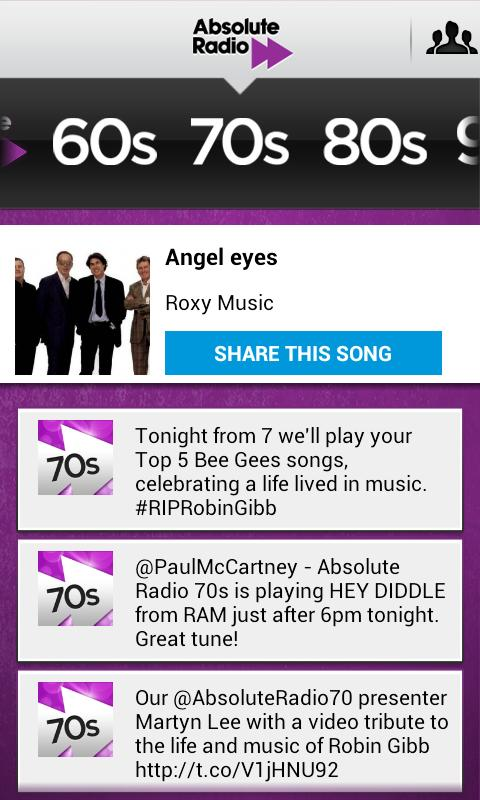 Absolute Radio TV App Remote - screenshot