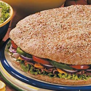 Giant Focaccia Sandwich.