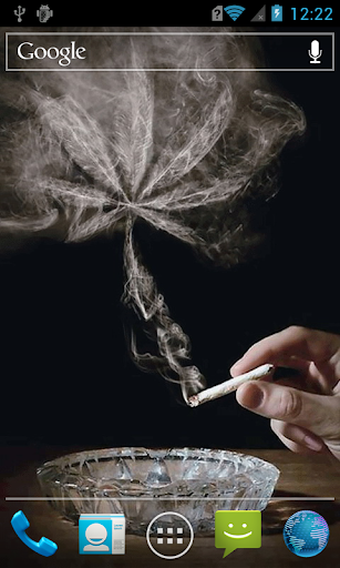 Fuming cigarette live paper