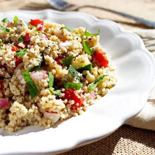 Mediterranean Cous Cous Salad.