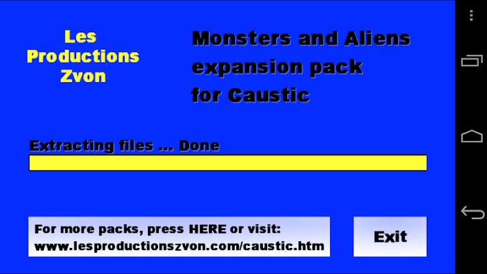 Monsters-Aliens Caustic Pack - screenshot