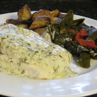 Halibut With Creamy Dill Sauce