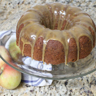 Apple Butter Bundt Cake with Cider Caramel Glaze #bundtbakers