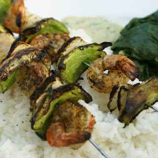 Shrimp Kabobs with Creamy Dijon Dill Sauce