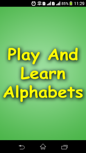Play And Learn Alphabets
