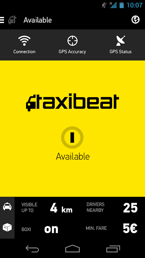 Taxibeat Driver- screenshot