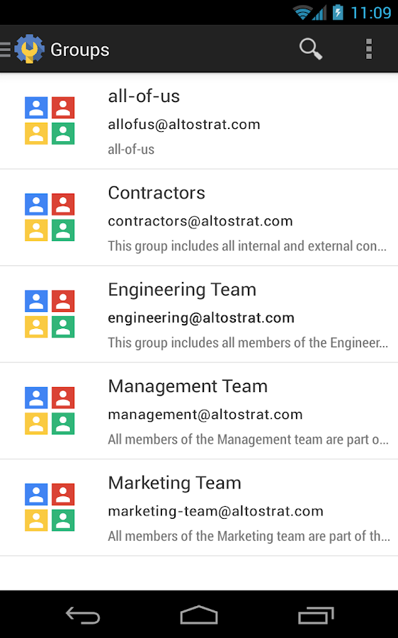 Google Admin - screenshot