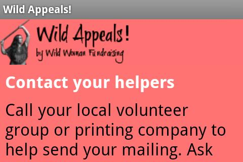 Wild Appeals! Fundraising App - screenshot
