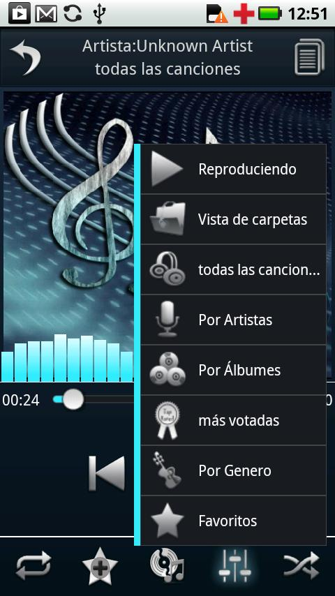 Spanish Language - Euphony MP - screenshot