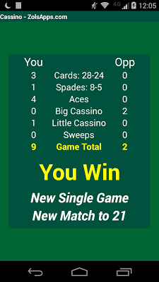 Cassino Card Game - screenshot
