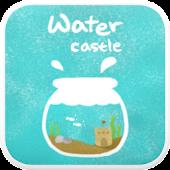 Water Castle go launcher theme