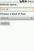 Screenshot of Fuel conso