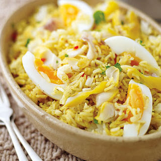 Quick Kedgeree With Boiled Eggs