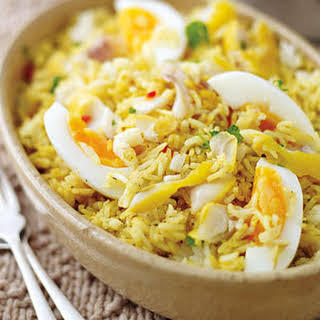 Quick Kedgeree With Boiled Eggs.