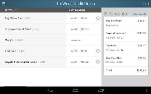 TruWest Credit Union - screenshot thumbnail