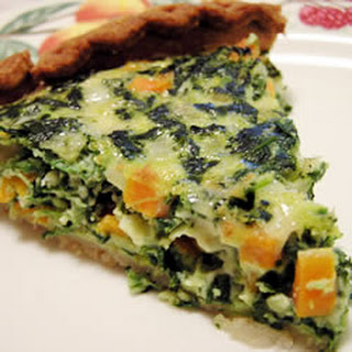 Spinach and Carrot Quiche.