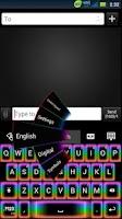 Screenshot of GO Keyboard Rainbow Glow Theme