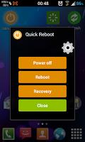 Screenshot of Quick Reboot (Root)