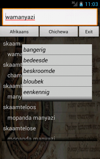 Afrikaans Chichewa Dictionary 20 screenshots 9
