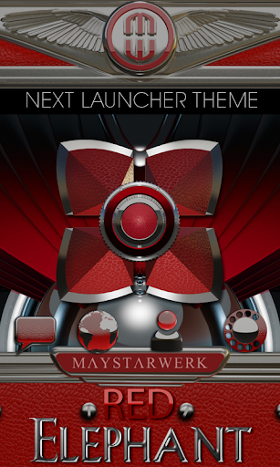 Next Launcher Theme Red Ele