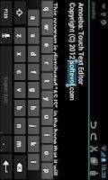 Screenshot of Amoeba Text Editor