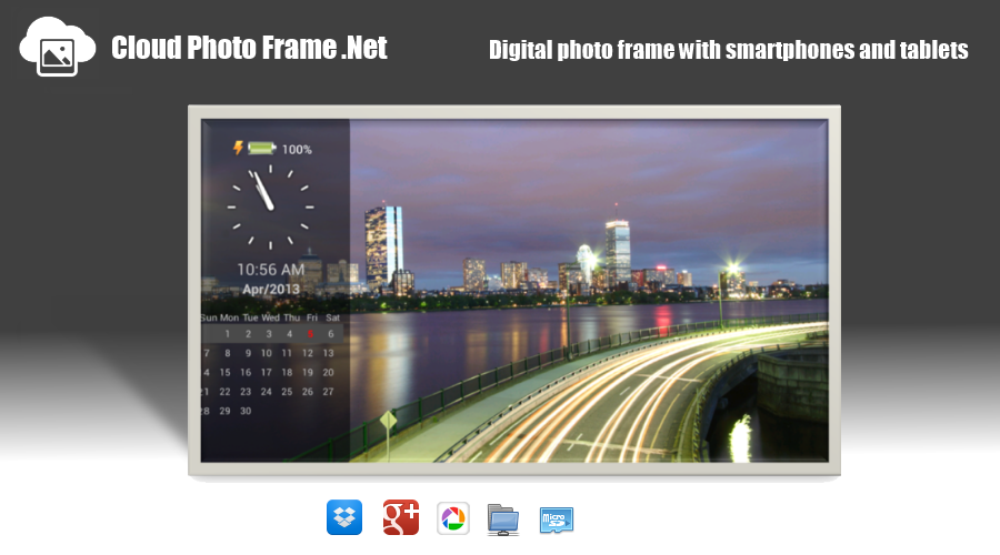 Cloud PhotoFrame.Net slideshow - screenshot