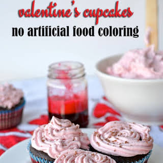 All-Natural Pink Vanilla Frosting (using beet juice).